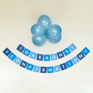Boy's Blue Confirmation Square Bunting
